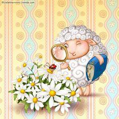 Morning Light, Good Morning, Sheep Drawing, Easter 2020, Clip Art, Thing 1, Flower Fairies, Illustrations, Cute Illustration