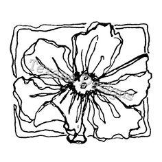 Jam'n Poppy mounted rubber stamp  $9