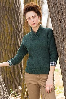 Simple and enduring, this shawl-collar pullover with its garter rib accents and flattering fit is a must-have addition to your autumn wardrobe.