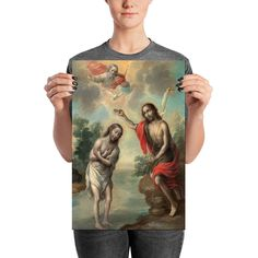 Now on #etsy: Religious poster - The Baptism of Christ - mexican art - chiristian gift idea - religious art print by @terrytiles2014 #religious #poster #baptism #christian http://etsy.me/2otAzcr