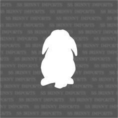 waterproof bunny decal, vinyl bunny sticker, boot sticker, phone d