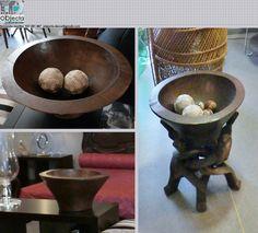 Taça rústica africana, esculpida à mão, em madeira maciça.... com ou sem suporte. https://www.facebook.com/objecta.segunda.mao/photos/pb.501864669950238.-2207520000.1430207291./611085289028175/?type=3&theater