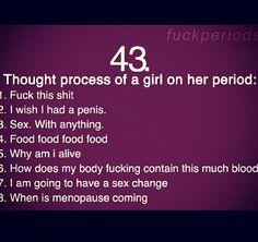 Girls on their period