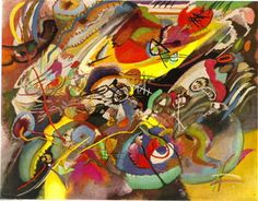 Wassily Kandinsky - Study for --Composition VII--