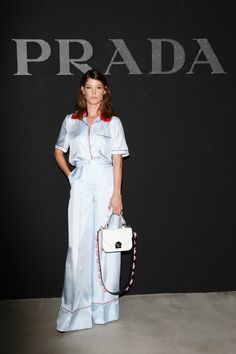 Hanneli Mustaparta attends the Prada Resort 2017 show during Milan Men's Fashion Week SS17 on June 19, 2016 in Milan, Italy. #FROW