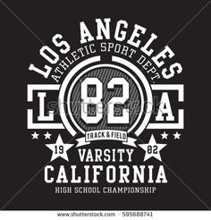 Athletic sport California typography, tee shirt graphics, vectors