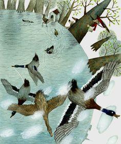 "Svetlana Akateva illustration for ""Baron Munchausen"". Baron, Children's Books, Illustrators, Perspective, Composition, Illustration Art, Animals, Animales, Animaux"