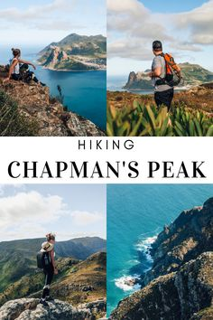 Chapman's Peak Drive is famous among local and international tourist, but the hike up Chapman's Peak is even better with beautiful views overlooking the vast ocean and Hout Bay and Noordhoek. Hiking Guide, Hiking Trails, South African Holidays, Rocky Steps, Stunning View, Beautiful, Round Trip, Cape Town, Scenery