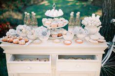 Powder blue and white dessert table | Anastasiya Belik Photography | http://burnettsboards.com/2013/12/powder-blue-white-wedding/