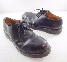 Grinders Black Leather Regent Steel Toe Oxford Shoes Mens Size US 13 UK 12 #Grinders #Oxfords