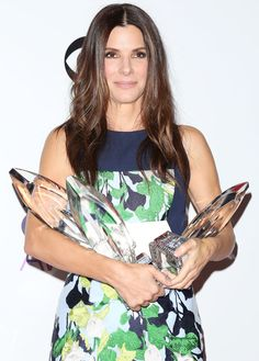 Sandra Bullock Wearing Peter Pilotto at 2014 People's Choice Awards in Los Angeles