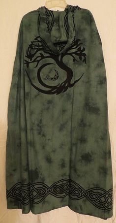 TREE OF LIFE CELTIC KNOT CLOAK / CAPE PAGAN WICCA RITUAL ROBE - NEW