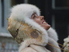 Pelshat / Pelshue. Fur hat Model Tibet, made in old Japanese obi silk brocade. Beige dyed fox. Handmade by Jane Eberlein, Samarkand, Copenhagen, Denmark. www.samarkand.dk