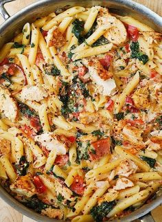 Low FODMAP and Gluten Free Recipe of the day - Chicken, tomato, bacon and basil pasta