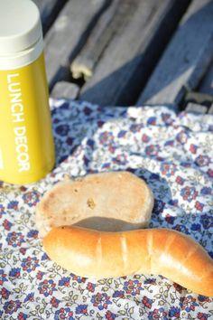 ますぱんで買ったパンを公園で。