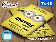 CMNS06 - Convite Minions 7x10cm