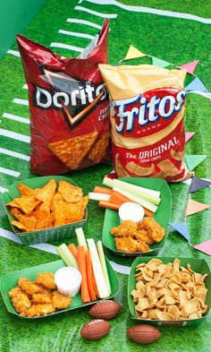 Elevate your typical chicken nuggets by breading them with crushed Doritos Nacho Cheese and Fritos Original Corn Chips. Crunchy, cheesy, delicious! What fun party recipes can you create? Submit it using #GameDayGrubMatchEntry for a chance to win $1,500 & much more! Just use 2+ @PepsiCo products.  Via @efreedman