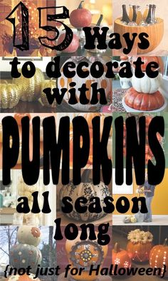 diy home sweet home: Using Pumkins in Fall Decor