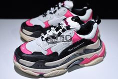Balenciaga Triple S Sneaker Pink Black Website: www.findsneaker.net (look my bio link) 100% authentic sale and guaranteed money back! All brand new!!! Pls follow us for more. DM me / Contact us Email: findsneaker@gmail.com