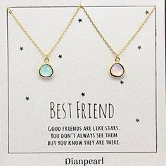 pink and aqua crystal necklace, Best friends necklace for 2, BFF Necklace, friendship necklace for 2, Gold dainty necklace, gemstone necklace, tiny crystal, Bff Necklaces, Best Friend Necklaces, Best Friend Jewelry, Bracelets, Birthday Gifts For Best Friend, Friend Birthday Gifts, Best Friend Gifts, Bestie Gifts, Presents For Best Friends