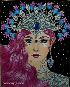 Another lady from Tidevarv coloured with prisma color pencils and posca pen  #hannakarlzon #hannakarlzontidevarv #tidevarv #seasons #hannakarlzonseasons #adultcoloring #adultcolouring #coloring #coloringforadults #coloringbook #coloringbooks #bayan_boyan #coloring_secrets #arte_e_colorir #arteterapia #coloringforfun #ilovecoloring #prismacolor #posca