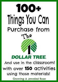 THINGS YOU CAN BUY FOR A TEACHER 100 Things You Can Purchase from the Dollar Tree and Use in the classroom with over 150 activities using those materials! So many great ideas in this post! @ all my elementary teacher friends Future Classroom, School Classroom, Classroom Ideas, Dollar Tree Classroom, Toddler Classroom, Classroom Supplies, Outdoor Classroom, Tot School, School Days