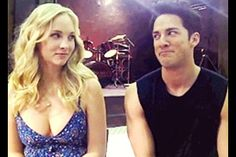Trevino's face after he calls Candice's character, Caroline, a floozy. Priceless!