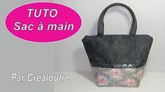 (11) Tuto Madalena couture - coudre un sac avec ruban à paillettes - YouTube