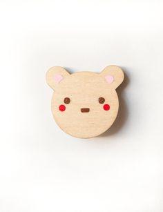 Little Bear wooden badge