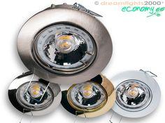 """12/230V Einbauspot """"Celia"""" , in 4 Farben erhältlich, wahlweise mit Halogen- oder LED-Leuchtmitteln lieferbar."""