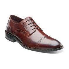 Brown Prescott mens dress shoe by Stacy Adams