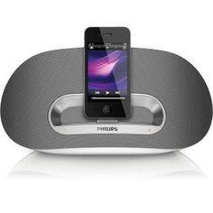 PHILIPS - DS3600 _ Station d'accueil iPod / iPhone / IPad - Profitez de vos morceaux favoris stockés sur votre iPhone ou iPod pendant qu'il se recharge et se synchronise avec votre PC via le port USB, tout en bénéficiant d'une qualité sonore exceptionnelle et d'un confort inégalable