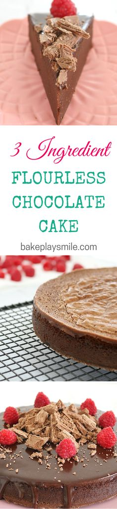 The best flourless chocolate cake ever! This is so rich and moist!