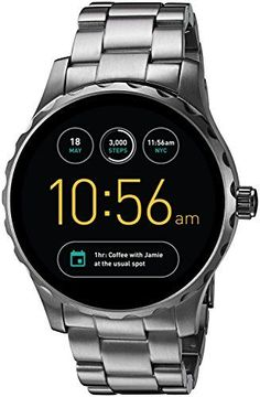 Fossil Q Marshal Gen 2 Touchscreen Gunmetal Stainless Steel Smartwatch is our newest digital display watch that connects seamlessly to your phone. Smartwatch, Casual Watches, Watches For Men, Female Watches, Fossil Q Wander, Android Wear, Android Watch, Fossil Watches, Women's Watches
