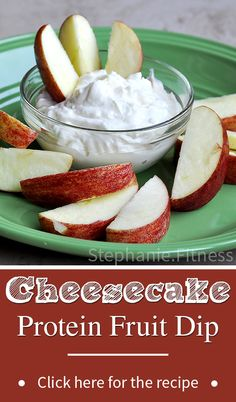 Cheesecake Protein Fruit Dip | Low Calorie & Low Fat | Healthy Snack Recipe | Stephanie.Fitness | www.stephaniedotfitness.com