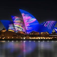 Vivid Sydney - Vivid Sydney is a unique annual event of light, music and ideas, featuring an outdoor 'gallery' of extraordinary lighting sculptures, a cutting-edge contemporary music program, some of the world's most important creative industry forums and, of course, the spectacular illumination of the Sydney Opera House sails.