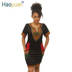 S-3XL Women Summer Bodycon Dress Robe Sexy Casual Sundress Party Plus Size Clothing Vintage African Print Dashiki Dresses