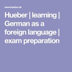 Hueber | learning | German as a foreign language | exam preparation