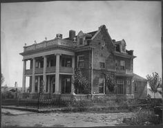 Margarito Romero residence on West National Avenue, Las Vegas, NM, ca. 1890-1900. Palace of the Governors Photo Archives 069597.