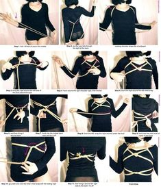 Japanese Rope, Anatomy Models, Rope Tying, Rope Art, Rope Knots, Kinky, Photoshop, My Style, How To Wear