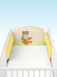 Bear Cotbed Bumper | Nursery Furniture | Baby Accessories Ireland | Cribs.ie Nursery Furniture, Nursery Bedding, Baby Accessories, Cribs, Ireland, Toddler Bed, Bear, Home Decor, Cots