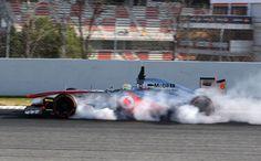 Sergio Perez locks up his McLaren | Formula 1 photos | ESPN F1