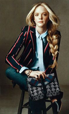 Izzie Burch (in Tory Burch) photographed by Norman Jean Roy for Vogue.