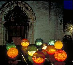 Spoleto Festival, Italy  Glass/light installation