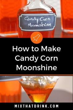 This Candy Corn Moonshine infusion is loads of fun, especially for tailgating and Halloween parties. This easy recipe also works with vodka or rum if you prefer.