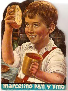 Marcelino Pan y Vino (Marcelino Bread and Wine) / The Miracle of Marcelino de Ladislao Vajda // Spanish film // Cinema Tv, Cinema Posters, Film Posters, Peach Mode, Wine Advertising, Foto Madrid, Vintage Boys, Wine Art, 90s Nostalgia
