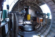 "Side guns and rear underbelly turret entrance area of the B-17 Flying Fortress ""Sentimental Journey"", Tail #483514F."