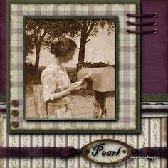 Pearl...striking hand lacing effect from 'Precious Memories' digi kit.