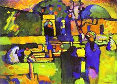 Great art from Art Authority: Arabs I (Cemetery) by Kandinsky, Wassily