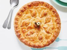 A creamy potato, cheese and leek pie filling in a flaky pastry case from Mary Berry.